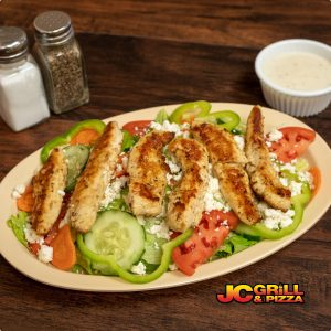 grill chicken greek salad